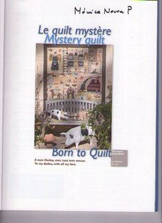 Mystery Quilt - Ludmila Krivun - Álbuns da web do Picasa Applique Patterns, Applique Quilts, Quilt Patterns, Sewing Magazines, Book Quilt, Patchwork Bags, Quilt Blocks, Mystery, Projects To Try