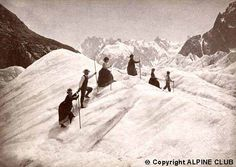 Ladies & Guides on the Mer de Glace, c.1886
