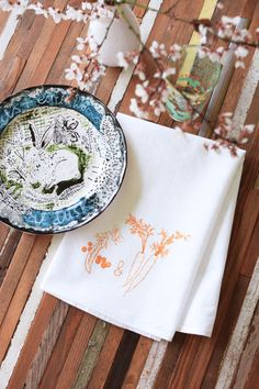 All natural and eco friendly flour sack cotton napkins by Oh, Little Rabbit