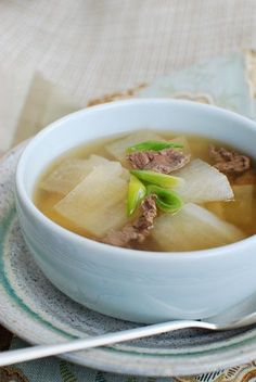korean radish & beef soup