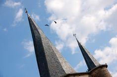 Le clocher flammé de Saint-Côme d'Olt Beaux Villages, France, Building, Travel, Tourism, Vacation, Viajes, Buildings, Destinations