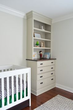 Ikea Hack Built-ins with Ikea Fjell dressers.  Young House Love - One young family + one old house = love.