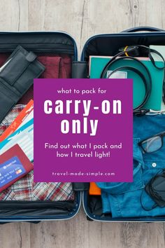 Learn to pack less and travel lighter with my tips for carry on travel. See what to pack for a trip, what luggage I've tried and love, and get my free printable packing checklist. Travel Packing Checklist, Packing Tips, Air Travel Tips, Travel Advice, Best Carry On Luggage, International Travel Tips, Packing Light, What To Pack, Travel Light