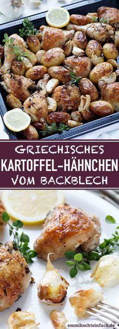 Kartoffel Hähnchen vom Backblech griechische Art - emmikochteinfach