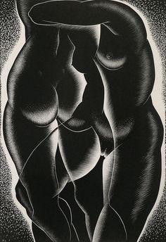 Paul Landacre, Wood Engraving 1939