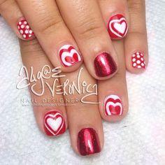 valentine by algaeveronica #nail #nails #nailart