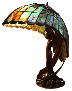 """""""Flying Lady"""" Tiffany-Style Stained Glass Lamp - All For House İdeas"""