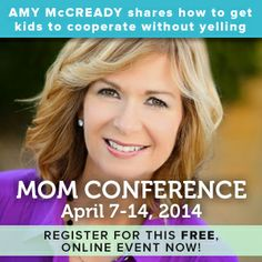 Amy teaches a FREE class on how to parent without yelling or nagging.  She teaches some really doable things that make a big difference in kids behavior.  You can register for FREE at www.conferenceformoms.com