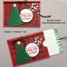#pocketcard #bonniestamped #christmascards #stampinup