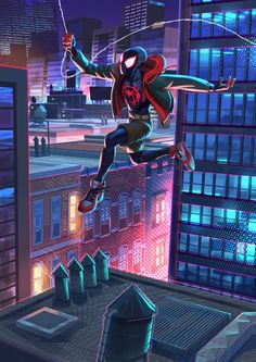 Miles Morales HD Superheroes Wallpapers Photos and Pictures ID Miles Spiderman, Miles Morales Spiderman, Black Spiderman, Amazing Spiderman, Spiderman Spider, Marvel Art, Marvel Dc Comics, Marvel Heroes, Spider Art