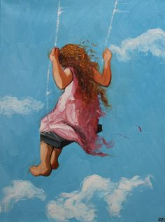 Print Swing49 18x24 Print from oil painting by Roz by RozArt