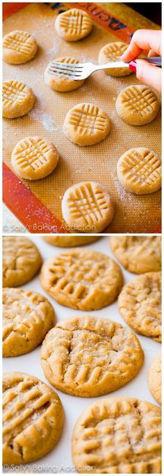 is my favorite recipe for Classic Peanut Butter Cookies. Easy to make, easier to eat!This is my favorite recipe for Classic Peanut Butter Cookies. Easy to make, easier to eat! Classic Peanut Butter Cookies, Peanut Butter Recipes, Recipe For Peanut Butter Cookies, Peanut Butter Biscuits, Chewy Peanut Butter Cookies, Baking Recipes, Cookie Recipes, Dessert Recipes, Tea Cakes
