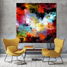 ORIGINAL ExtraLarge abstrakte Malerei von ModernArtHomeDecor - My list of the most beautiful artworks Oil Painting Abstract, Abstract Canvas, Canvas Art, Modern Art, Contemporary Art, Art Sur Toile, Acrylic Art, Painting Inspiration, Art Decor