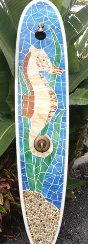 I found a use for my son's broken surf boards! an outdoor shower.