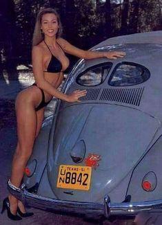 Volkswagen, Vw Bus, Sexy Bikini, Bikini Girls, Pin Up Girls, Kdf Wagen, Hot Vw, Bus Girl, Chevy Pickups