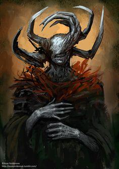 Edno by Asya Yordanova Fantasy Concept Art, Dark Fantasy Art, Fantasy Artwork, Dark Art, Monster Concept Art, Fantasy Monster, Monster Art, Ange Demon, Demon Art