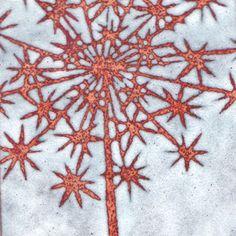Janine Partington enamel on copper, stencil, Janinepartington.co.uk, copper series