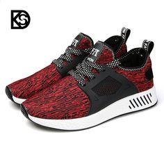 95fed0cd68c0 KSD respiră bărbați pantofi de alergare respirație confortabilă stil nou  sport în aer liber negru gri roșu pantofi confortabile ușor adidași greutate