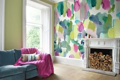 bluebellgray Big Rothesay Set) Multi Mural extra image bluebellgray Big Rothesay (Set of 3 Panels) Multi Mural zusätzliches Bild Source by noe_dagand The post bluebellgray Big Rothesay Set) Multi Mural extra image appeared first on My Art My Home. Lights Wallpaper, Modern Wallpaper, Room Wallpaper, Wallpaper Awesome, Living Room Murals, Living Room Paint, Living Room Decor, Bluebellgray, Accent Wall Colors
