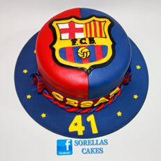 Soccer Birthday Cakes, Lego Birthday, Soccer Cakes, Barcelona Cake, Barcelona Party, Sport Cakes, Cakes And More, Cake Designs, Finger Foods