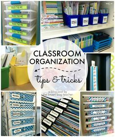 Awesome Classroom Organization Tips and Tricks. Great ideas for guided reading, math centers, and classroom library!