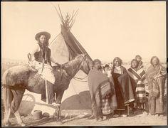 size: Art Print: Lakota Women with Infants and Man on Horseback Photograph - Pine Ridge, SD by Lantern Press : Pine Ridge Reservation, Red Cloud, Southwestern Art, Native American Indians, Native Americans, Photographic Studio, Stock Art, National Museum, Find Art