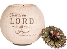 Trust in the Lord with all your Heart Proverbs Tea Light Candle Holder – Beloved Gift Shop
