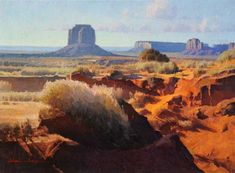 Monument Valley by Calvin Liang - Insight Gallery Landscape Art, Landscape Paintings, Los Angeles Country, Tall Ships Festival, Malibu Sunset, Sailing Day, Natural Structures, Southwestern Art, Environment Concept Art
