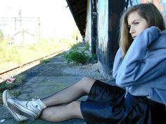 More on my blog: https://dziewczynawczarnymkapeluszu.blogspot.com #outfit #style #Fashion #jumper #skirt #trainers #streetstyle #Street #style