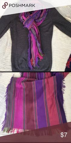 Pretty fashionable scarf Pretty fashion scarf in multiple purples, pinks, and gray Accessories Scarves & Wraps