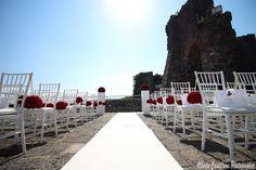 wedding#red#flowerball#allestimenti#