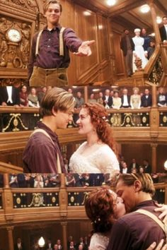 This is a flawless way to end a flawless movie.  In Heaven, one is the best and happiest version of oneself.  This scene is Rose's Heaven, meaning Jack is her soulmate.  She was the best version of herself in the short time she was with him.  Also, she patiently waited 84 years to hold his hand and kiss him again.  If that does not say epic romance, I don't know what does.