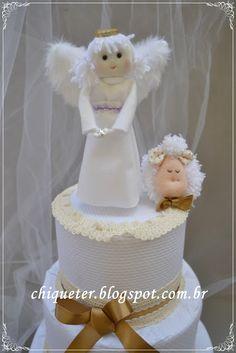 Um anjo sobre o bolo!