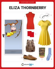 The best costume guide for dressing up like Eliza Thornberry the ten-year-old girl who talks to animals on the show The Wild Thornberry's. Got Costumes, Clever Costumes, Cosplay Costumes, Costume Ideas, Halloween Inspo, Halloween 2017, Halloween Party, Halloween Costumes, Halloween Stuff