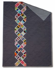 Christine's DNA Quilt - at Grapes and Hearts blog.  Would love to make one, simple vertical quilting?
