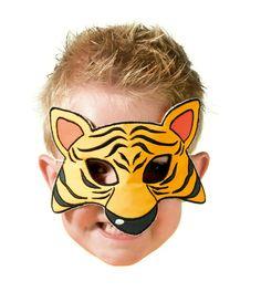 Clowny Display Mask Tiger #Clowny #tiger #tijger #masker #verkleden