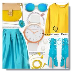 """Christian Paul"" by jiabao-krohn ❤ liked on Polyvore featuring Chicnova Fashion, Chloé, Kendra Scott, Allstate Floral, FOSSIL, Gianvito Rossi and christianpaul"
