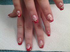 Fun Valentine design inspired by nail art I found on Pinterest.--