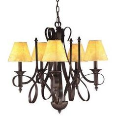 @Overstock - Brighten your home decor with a five-light chandelier  Light fixture showcases a tannery bronze finish  Chandelier features oatmeal-colored vinyl shades  http://www.overstock.com/Home-Garden/Tannery-Bronze-5-light-Chandelier/3909082/product.html?CID=214117 $152.99