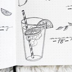 Lemonade is SO refreshing on a toasty summer day! ... ... ... #bulletjournal #bujo #planner #drawing #illustration #doodle #blackandwhite…