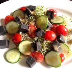 レシピとお料理がひらめくSnapDish - 20件のもぐもぐ - Black sesame tofu salad by Missty