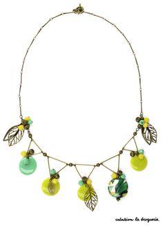 Un petit jardin sur votre collier ! #ladroguerie #bijou #collier
