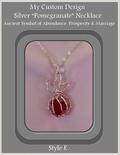 Pomegranate life fertility marriage by RosesWireArtJewelrY on Etsy, $28.00