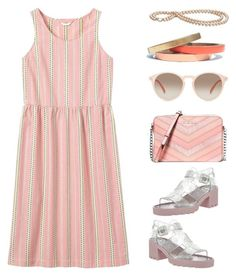 """""""Peachy Keen"""" by mcheffer ❤ liked on Polyvore featuring Toast, MICHAEL Michael Kors, JuJu, GlassesUSA, Voz Collective and fashiontrend"""