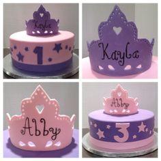 Matching Princess Crown Cakes