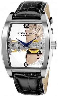 Stuhrling Original 303.33152 Leisure Millennia Ravine Mechanical Skeleton Watch For Men