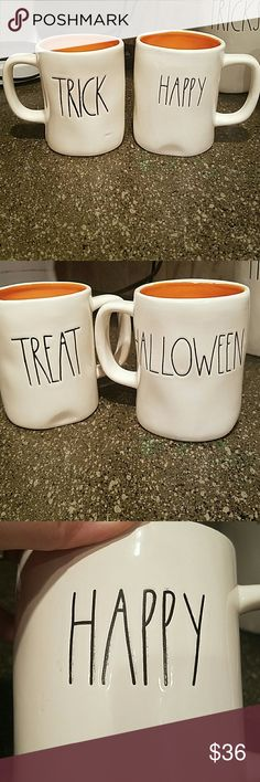 New Rae Dunn Set of 2 Halloween Mugs New Rae Dunn  Set of 2 Halloween Mugs:  Trick / Treat Happy / Halloween Rae Dunn Accessories
