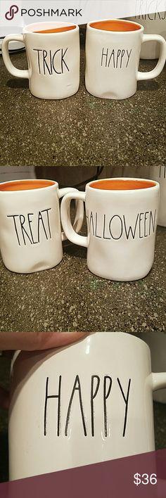 New Rae Dunn Set of 2 Halloween Mugs New Rae Dunn  Set of 2 Halloween Mugs:  Trick / Treat Happy / Halloween Rae Dunn Accessories