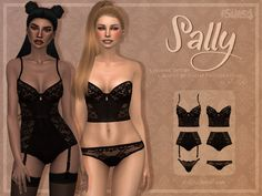 ✩ Trillyke ✩   Black Lingerie Collection (Sally & Vanesa) by...