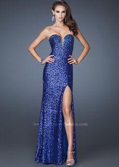 Cobalt blue sequin dress